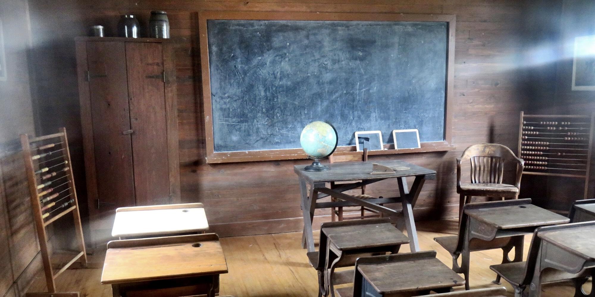 Gammelt klasseværelse til vejledning