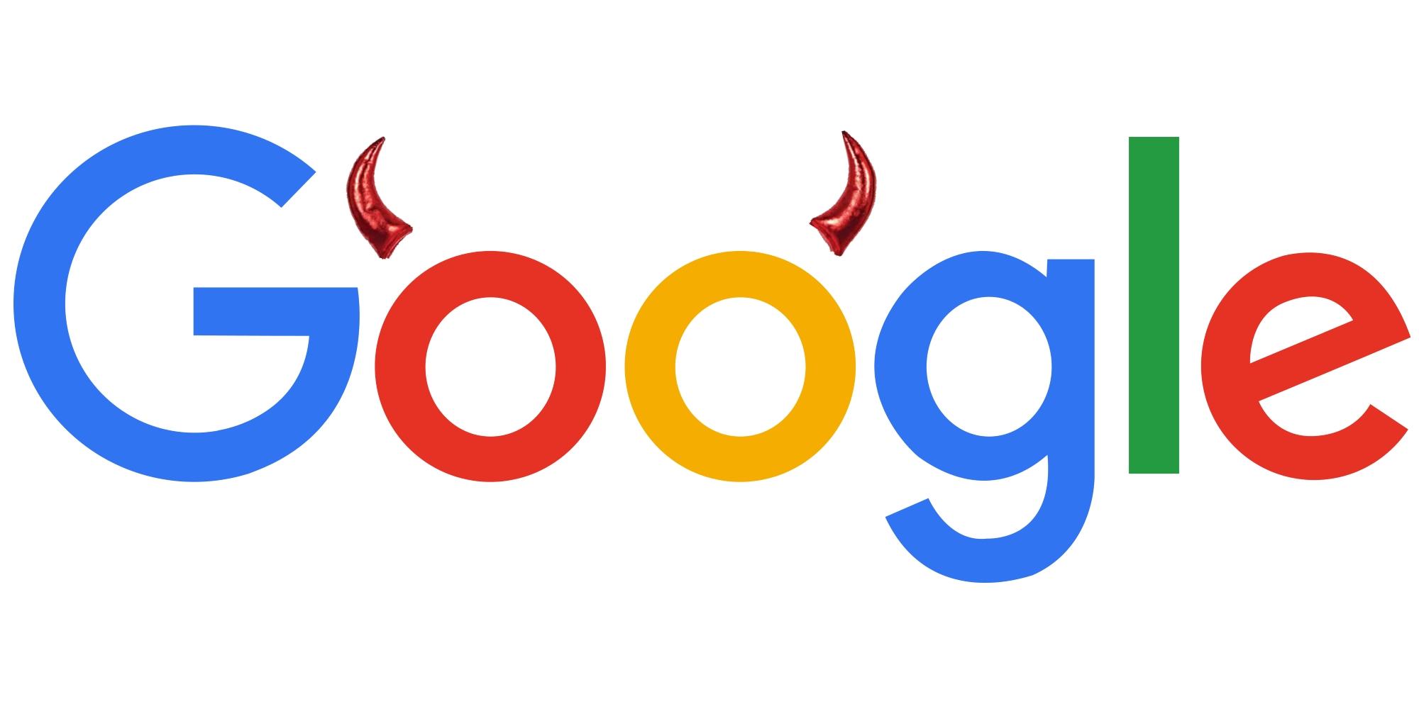 Google logo med horn